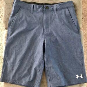 Boys Under Armour Blue Golf Shorts